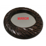 WOOD MIRROR RND.