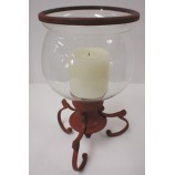CANDLE HOLDER + GLASS