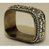 Napkin Rings with Jewel Crystals - Rect.
