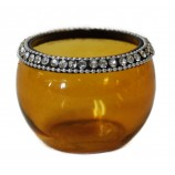 Votive - Crystal Jewels Amber