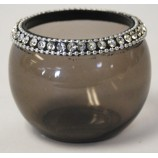 Votive - Crystal Beads Smoke Grey
