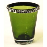 Votive Crystal Jewles - Apple Green