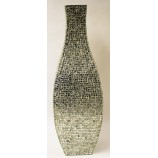 Mosaic Flower Vase Silver