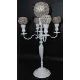 Candelabra 60 ins White or Black With Crystal Balls