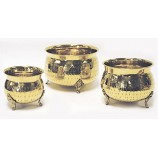 Set of 3 Planter Brass