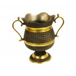 Planter - Vase Grey With Gold Inlay