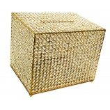 "Crystal Money & Gift Card  Box. GOLD 15"" x 12"""