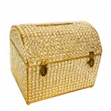 "Crystal Money & Gift Card  Box GOLD 15"" x 12"""