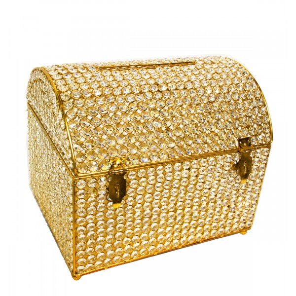 Crystal Money & Gift Card Box GOLD 15