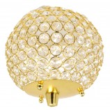 Crystal Ball 6 ins. with Pegs for Candelabras GLD