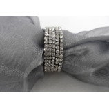 NAPKIN RING WITH DIAMOND CRYSTALS-SILVER