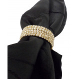NAPKIN RING WITH DIAMOND CRYSTALS-GOLD