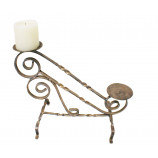 Candle Holder in Wrought Iron-Antique Gold