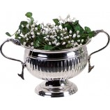 Flower Bowl-Nickel Plate