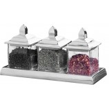 S/3 Square Jars w/tray