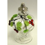 Oil Lamp Leaf Collection Clear