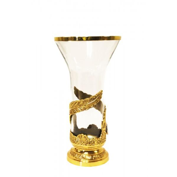 Flower Vase Wglass Lacquered Brass Brass4u