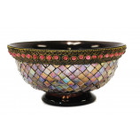 Mosaic Bowl with Beads