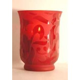 RED VOTIVE HOLDER