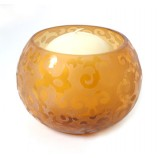 Amber Votive Holder