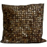 Cushion Cover with Shell Beads