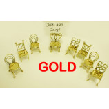 Chair Card Holder set 6 pcs Brass