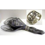 Napkin Rings-Oval Silver