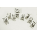 Chair Card Holder set 6 pcs.- NKL