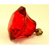 Glass Knob - Red