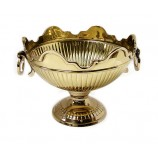 Crown Bowl  10 1/2 ins.  Brass - GOLD