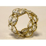 Napkin Ring Crystal - GOLD