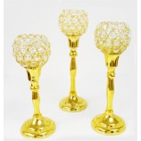 Set of 3 Candle Holders - GOLD