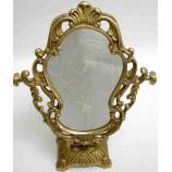 Mirror Antique Brass  Lg.